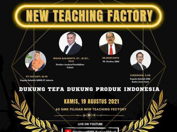SMKN 6 Bandung terpilih dalam New Teaching Factory Award 2021.